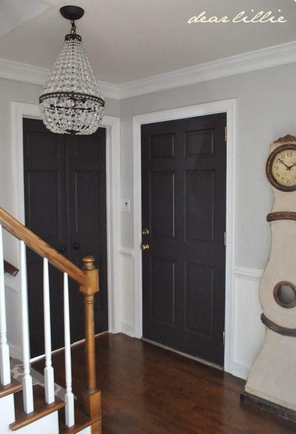 Dear Lillie Our Home Grey Interior Doors Home Wall Colour Black Interior Doors