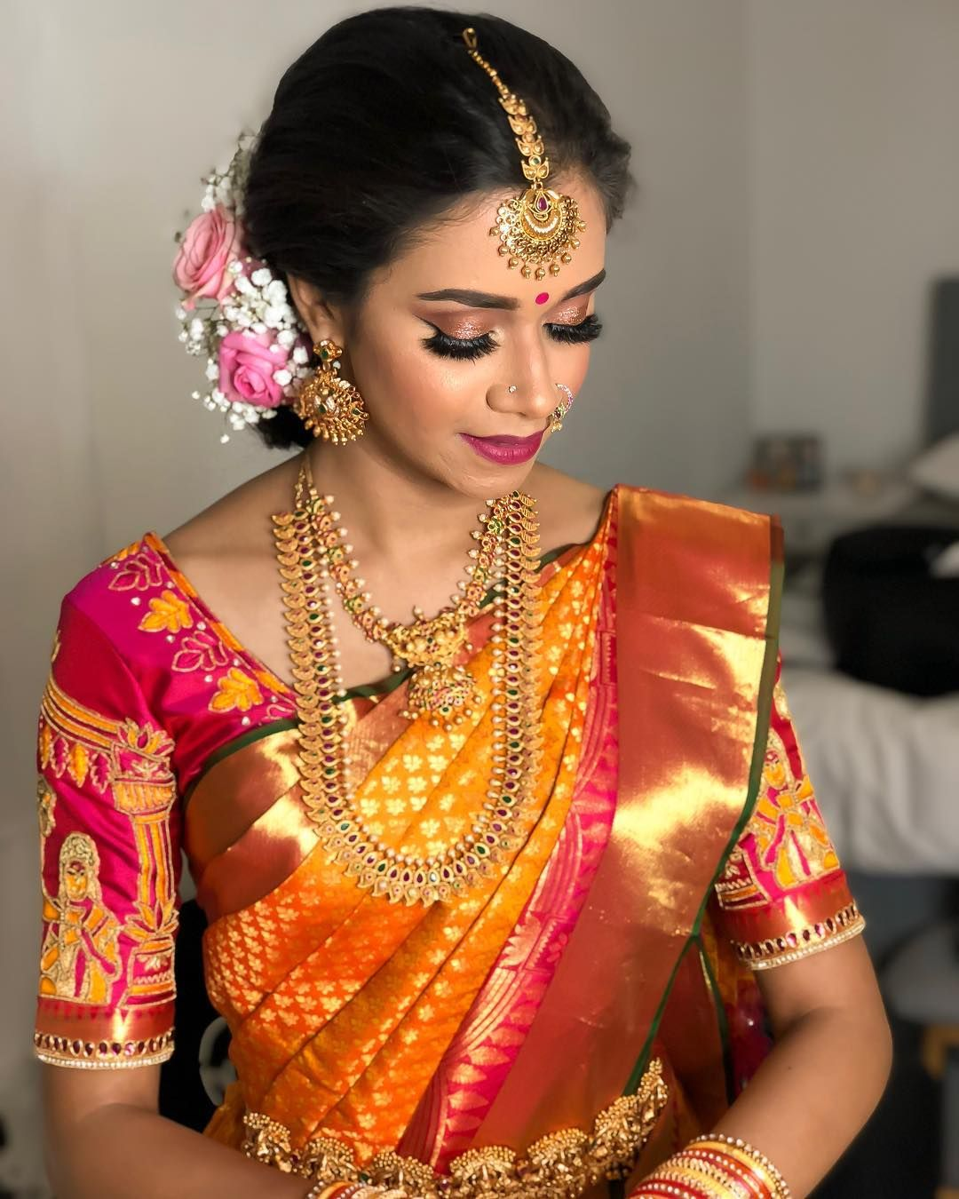Wedding Hairstyle Tamilnadu: One More Of My Beautiful Bride, Priyanka ️ #tamil #mua