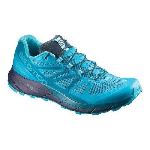 Salomon Women's Sense Ride Trail Running Shoe, Blue Bird/Deep Lagoon/Navy Blazer #Fitness Training f...