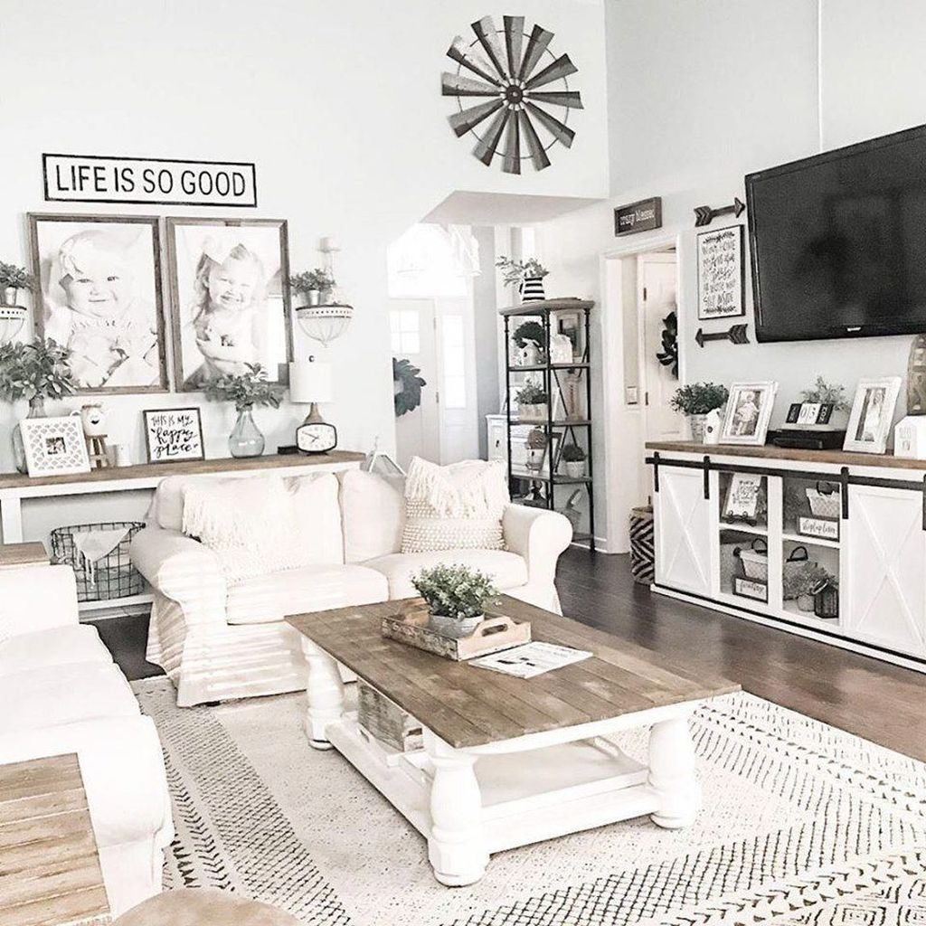 35 Popular Modern Farmhouse Living Room Decor Ideas In 2020