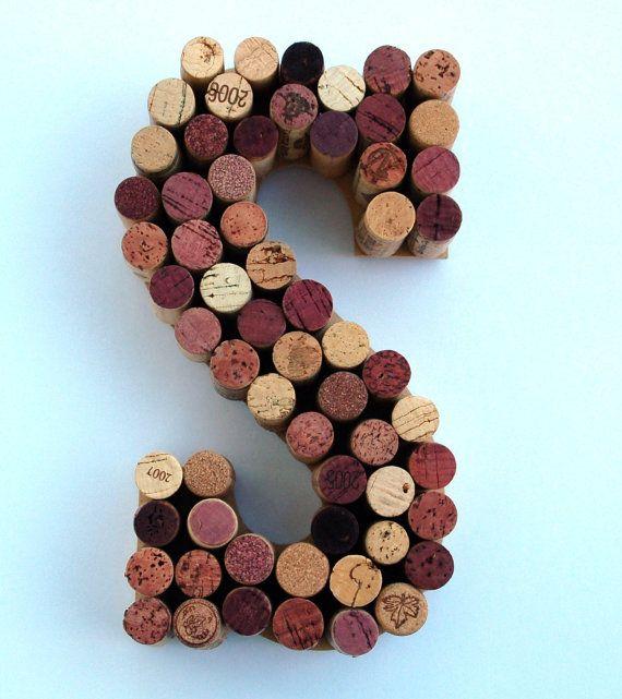 Real Weddings Cork: Wine Cork Letter S Made From Real Wine Corks! Cork Letters