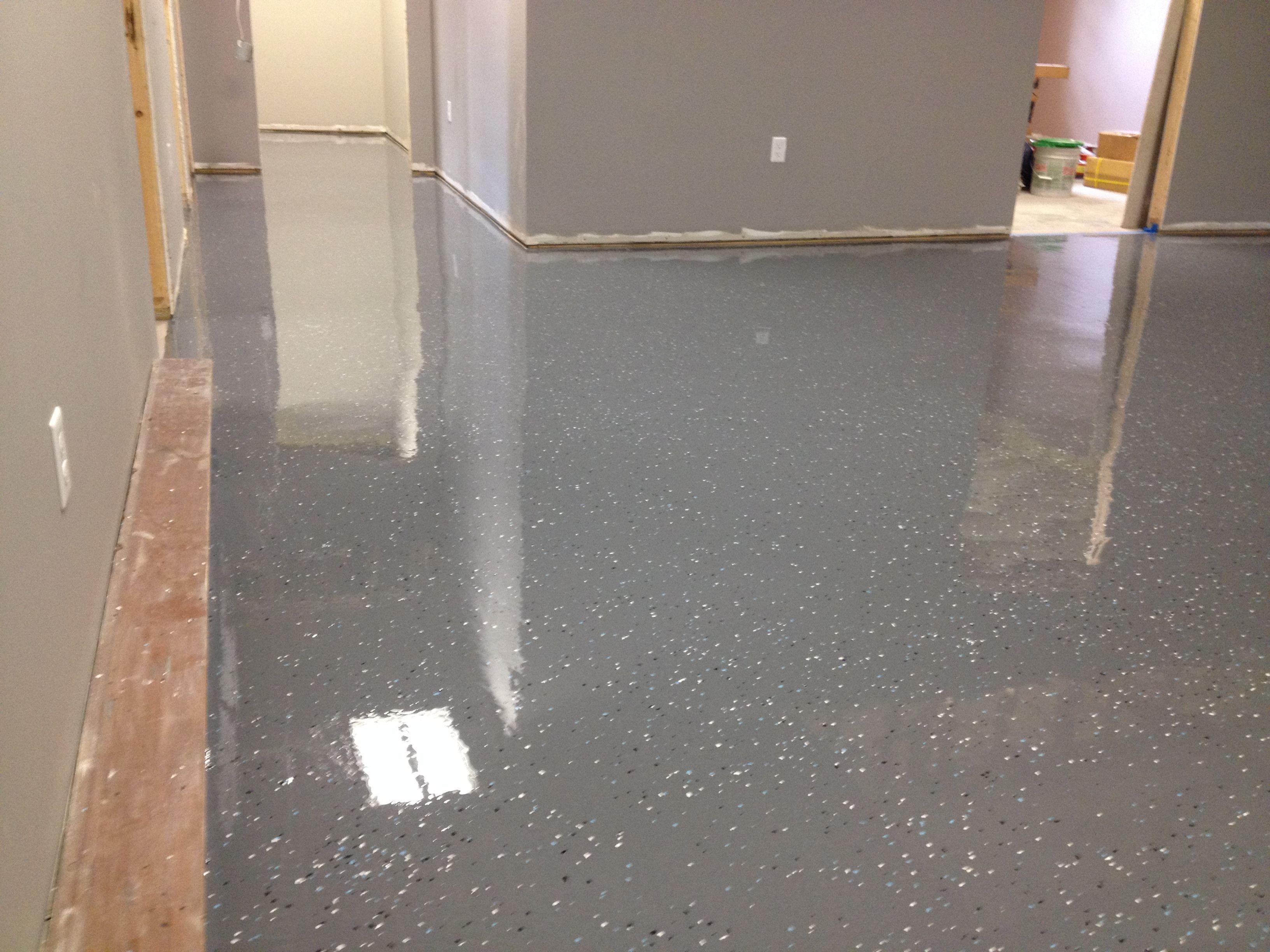 epoxy coating dark gray with flecks