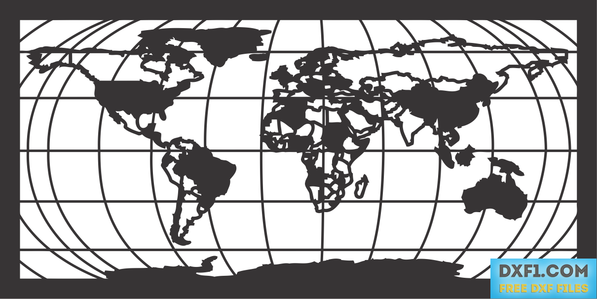 World map dxf plasma cut file this file was designed for plasma world map dxf plasma cut file this file was designed for plasma cutting but it is suitable for milling burning or using it as a template for manual gumiabroncs Choice Image