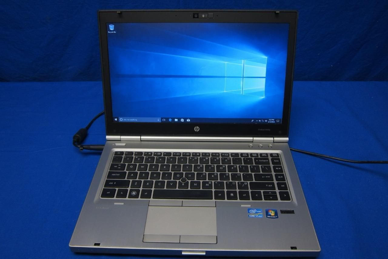HP Elitebook 8460p Laptop i7-2620M@2 70GHz 4GB RAM 250GB HDD