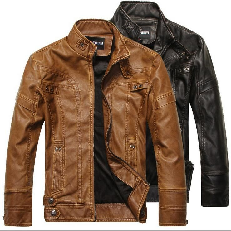 Coat Jackets Motorcycle Thickening Winter Leather And Pu Men zYPwSqZW