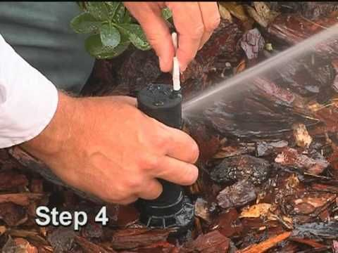 Adjusting Rotary Type Sprinkler Heads Massey Services Sprinkler Heads Sprinkler Sprinkler Repair