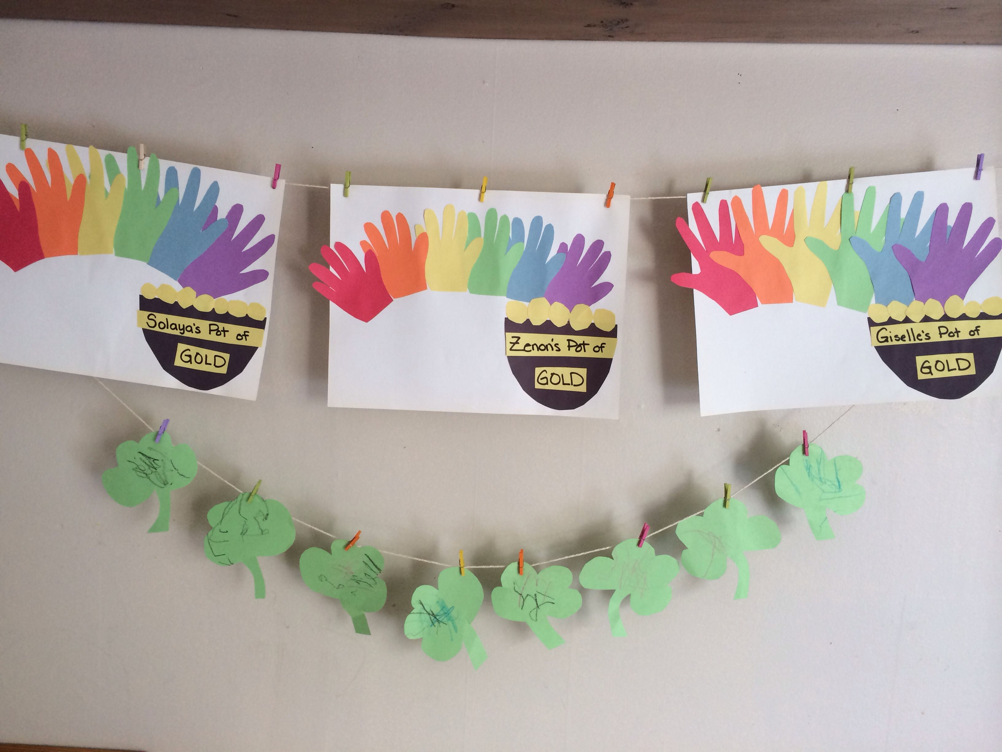 Saint Patricks Day St Pattys Day March Crafts For Toddlers 2 Year