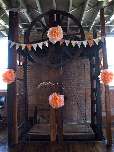 Elevator Decorations for Bridal Shower
