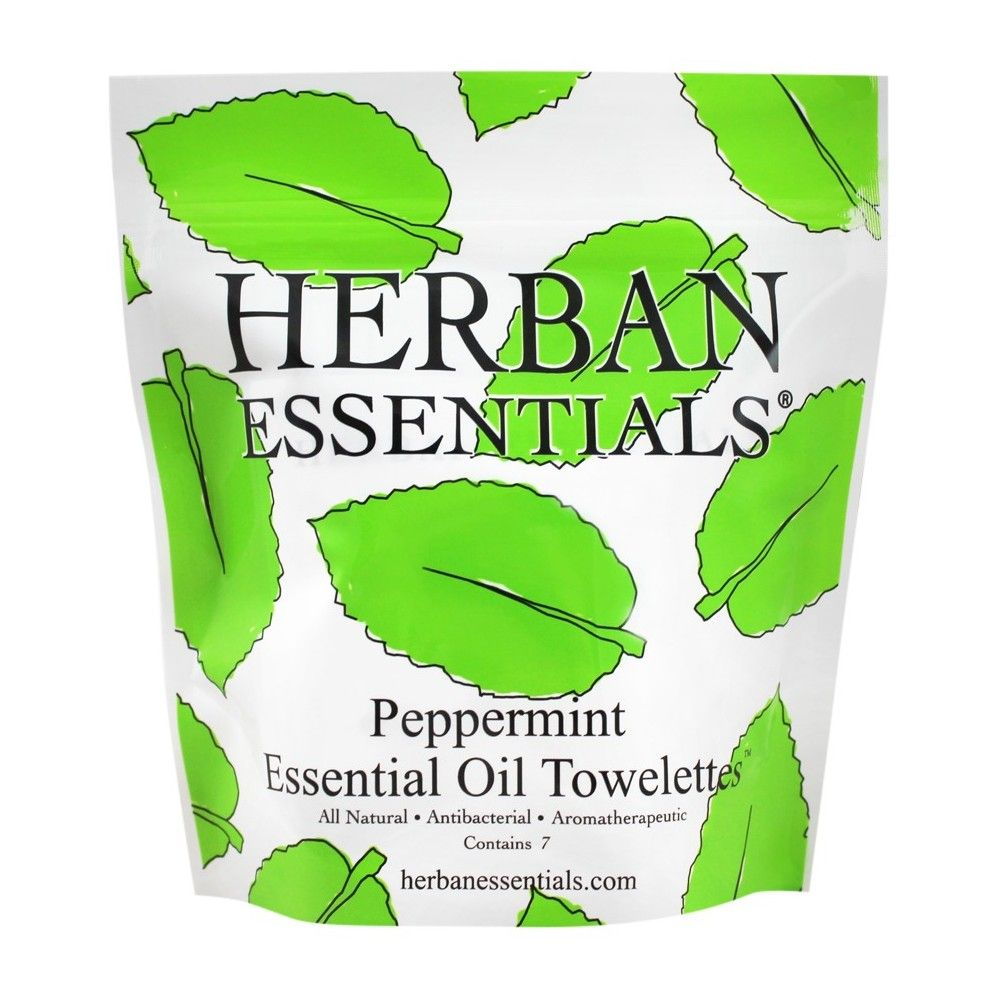 Herban Essentials Peppermint Essential Oil Towelettes 7