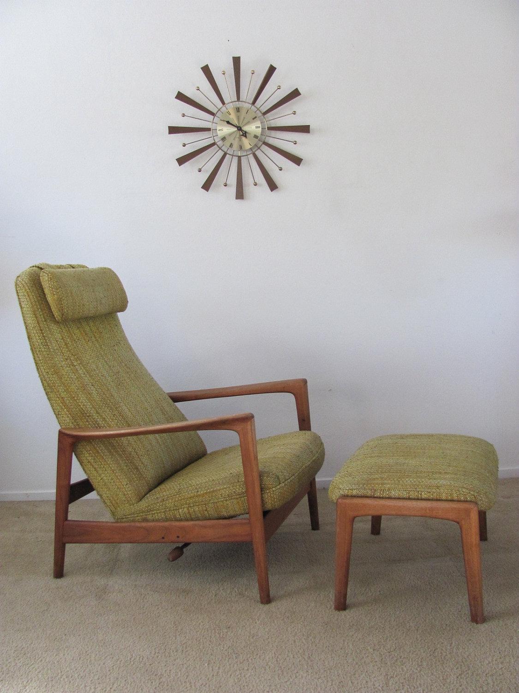 Vintage Mid Century Danish Modern / Dux / Reclining High