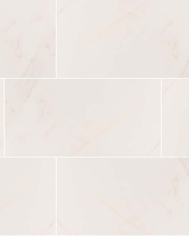 Adella Calacatta Porcelain Tiles Crafted In Spain Feature A Soft Creamy White Background And Subtle Veins Reminiscent Orac Decor Marble Look Tile Trip Advisor