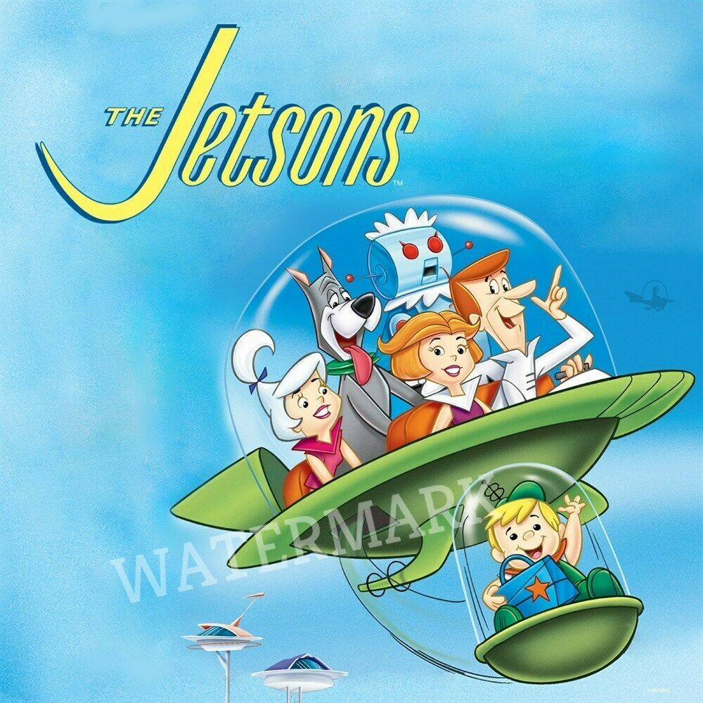 The Jetsons Animated Tv Show Cast In Flying Car Elroy Off