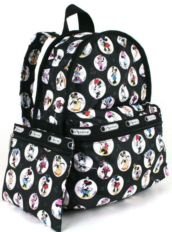 Disney Lesportsac Celebrate Minnie Basic Backpack Nwt Htf