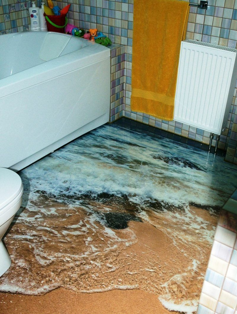 9D Fliesen - Ideen für das Badezimmer - Badezimmer, Bodenbeläge