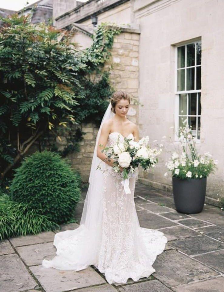 Lee Grebenau Liv Wedding Gown A Strapless Corset Mermaid Gown