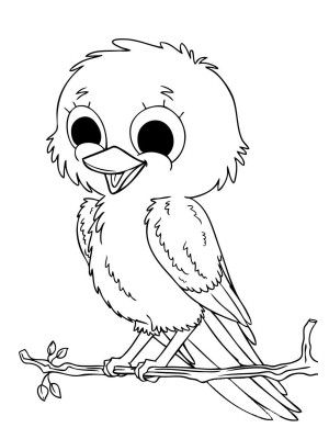 baby bird coloring pages Baby Bird Coloring Pages for Kids | 2 Graphics, Appliques & Clip  baby bird coloring pages