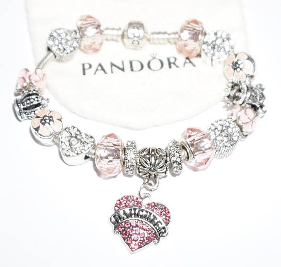 Pretty In Pink Daughter Authentic Jared Pandora Bracelet Jareds