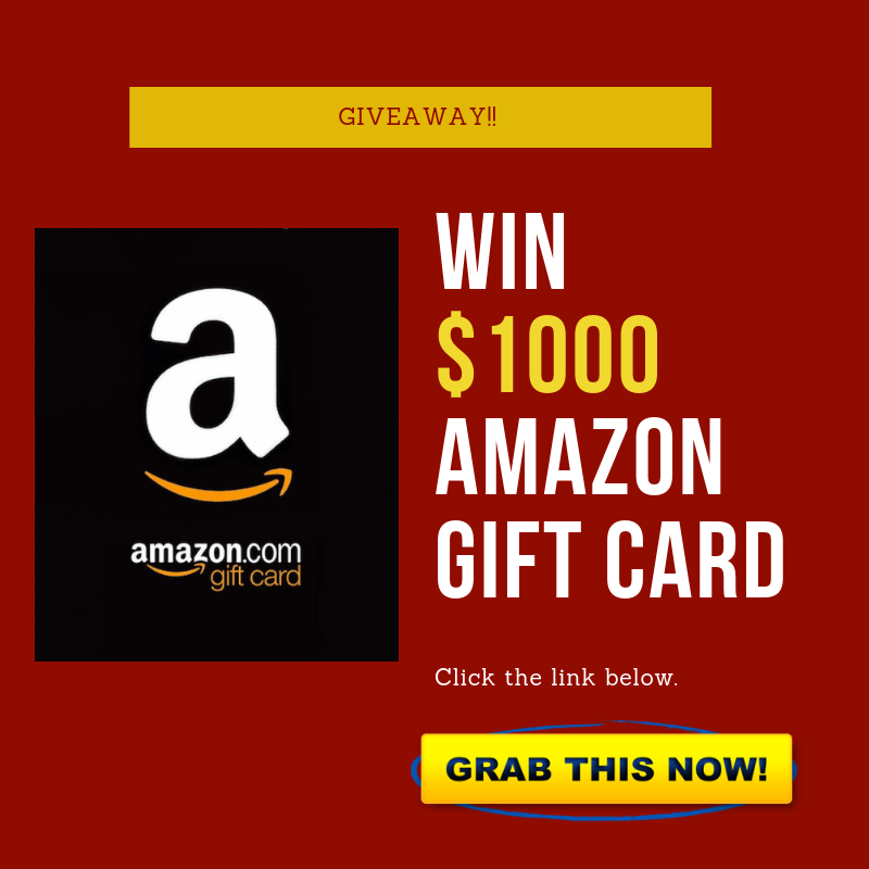 Try out this giveaway to get you free Amazon gift card of