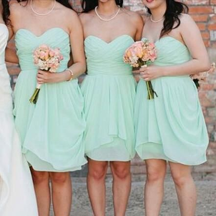 Mint Bridesmaid Dresses,Short Bridesmaid Dresses,Knee-Length Bridesmaid Dresses,Summer Bridesmaid Dresses Only accept payment from PayPal, there is USD5 discount for payment by Paypal, discount code: