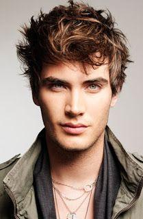 Alguns estilos de cabelos masculinos.
