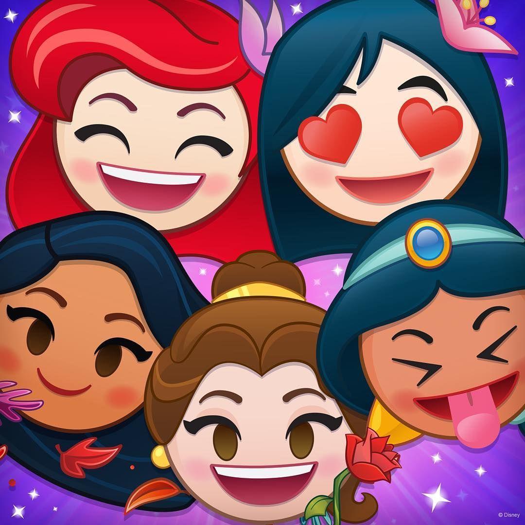 Disney Emoji S Ariel Mulan Pocahontas Belle And Jasmine Disney Emoji Disney Emoji Blitz Kawaii Disney