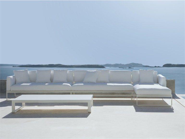 Aluminium garden sofa flat modular 2 flat collection by for Sofa modular exterior
