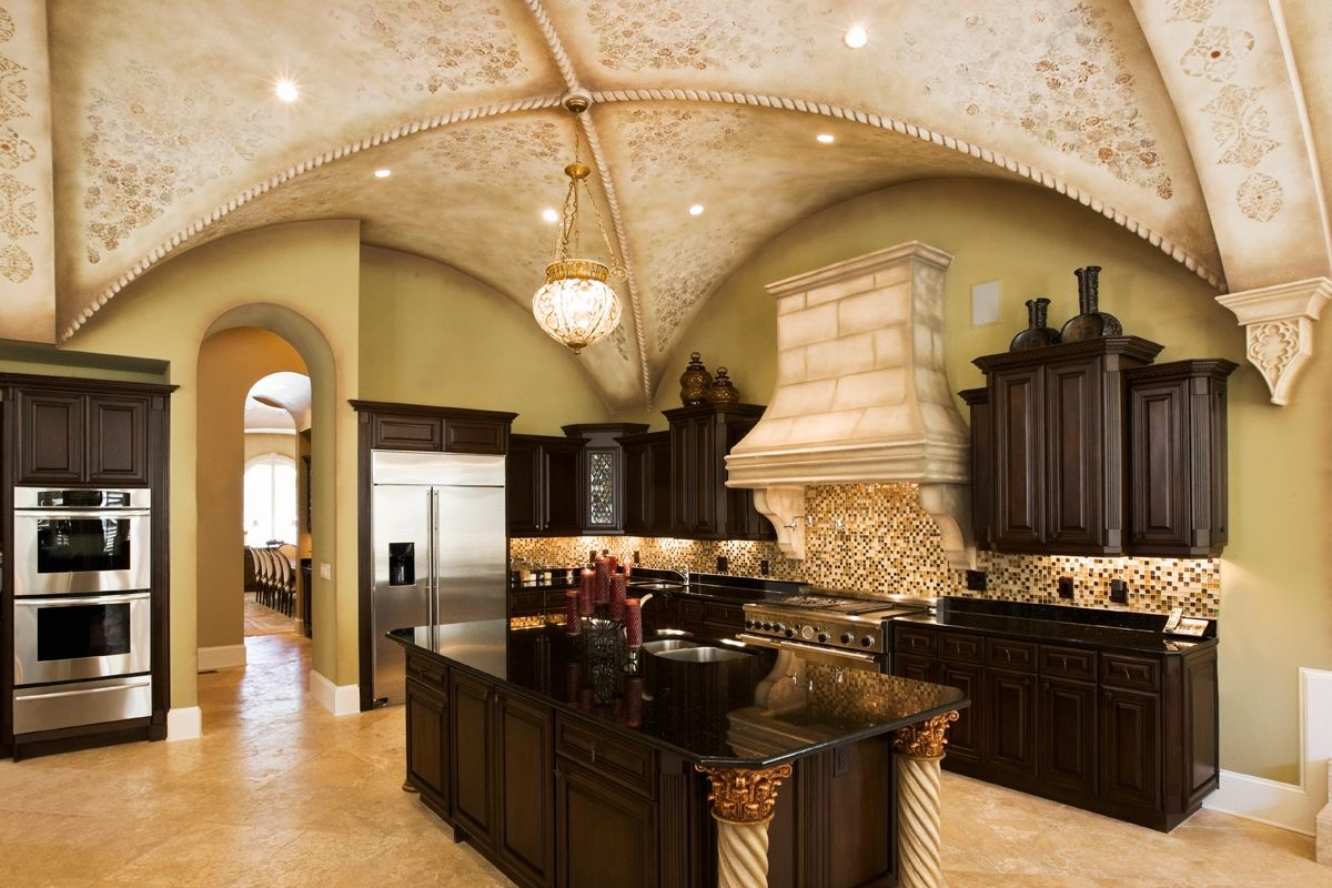 Kitchen Designers San Antonio Love The Ceiling And The Dark Wood Cabinets  Lovely Interiors