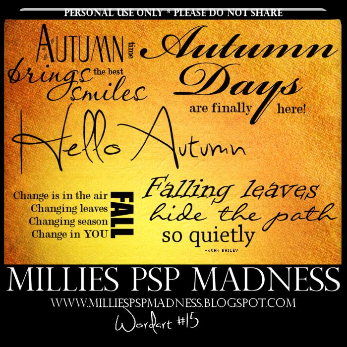 millies psp madness wordart 15 autumn themed ftu psp