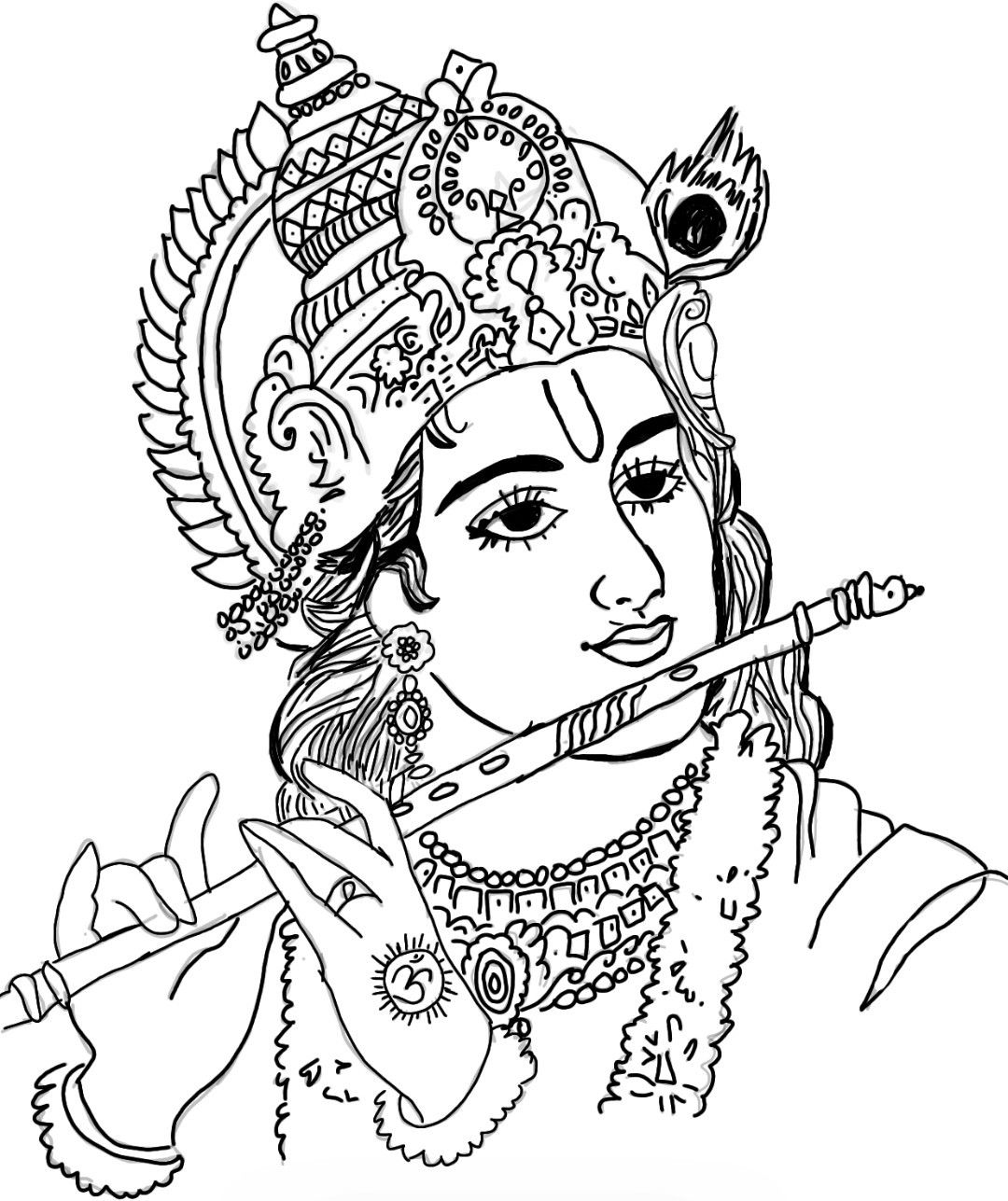 Krishna Digital Art Lord Krishna Sketch Drawings Art