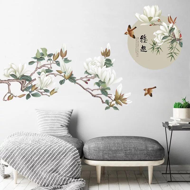 Chinoiserie Branches Birds Wall Decals Dekor Sten Doma Dekor