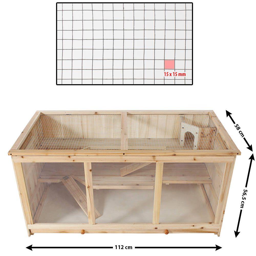 Nagerkafig Aus Holz 112x58x56 5cm Gunstig Online Kaufen Tectake Kleintierkafig Wolle Kaufen Hamster Gehege