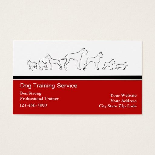 Dog Trainer Business Cards Zazzle Com Dog Trainer Dog