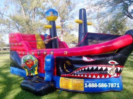 Pirate Ship Inflatable Bounce House Jpg Bounce House