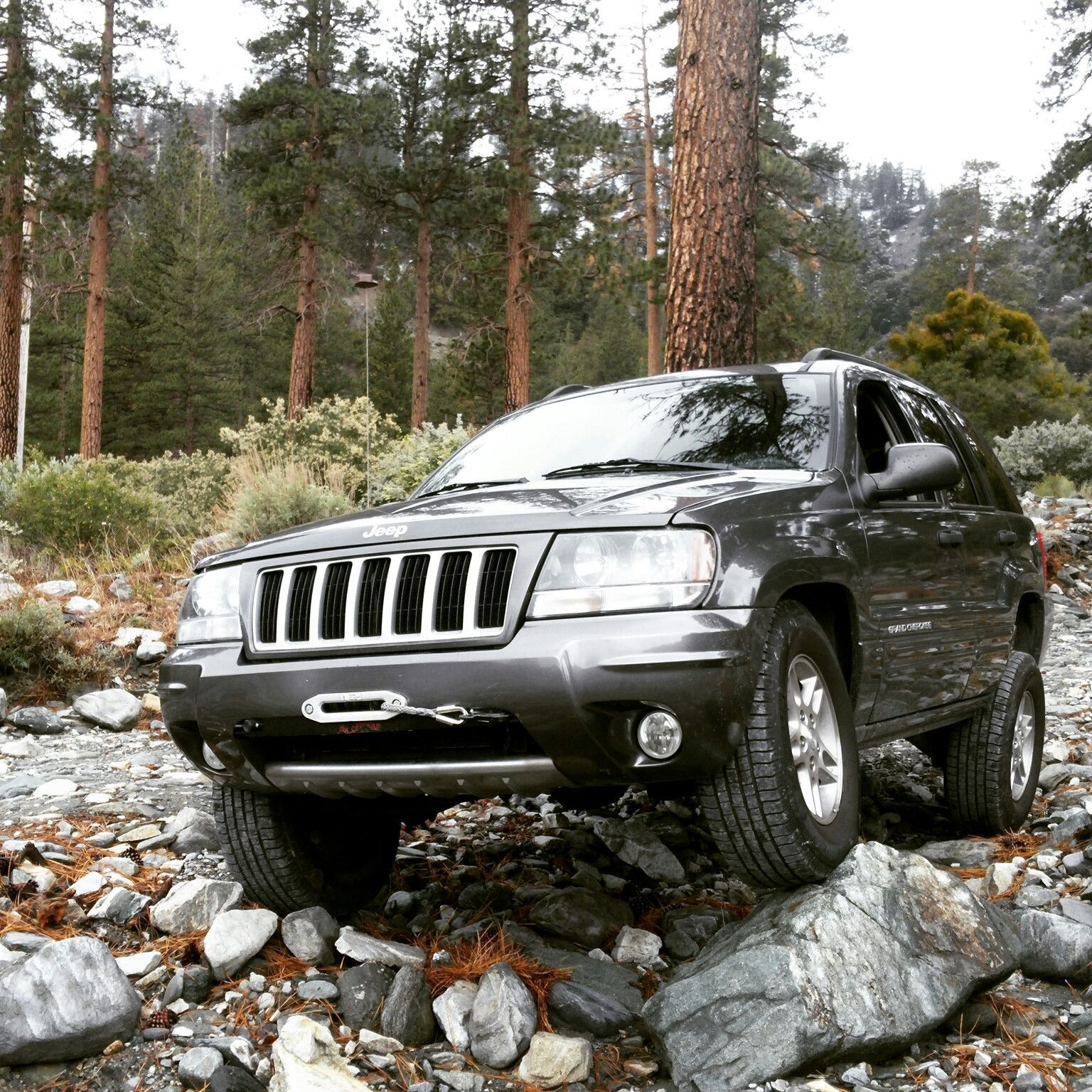Wj Hidden Winch Mount Jeep Grand Jeep Wj Jeep