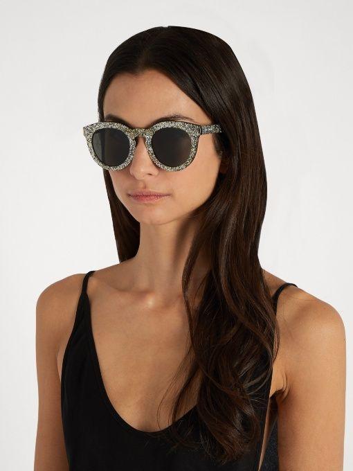 Glitter Saint IdaThe Round Laurent SunglassesMiss Stylist SMUVpzq