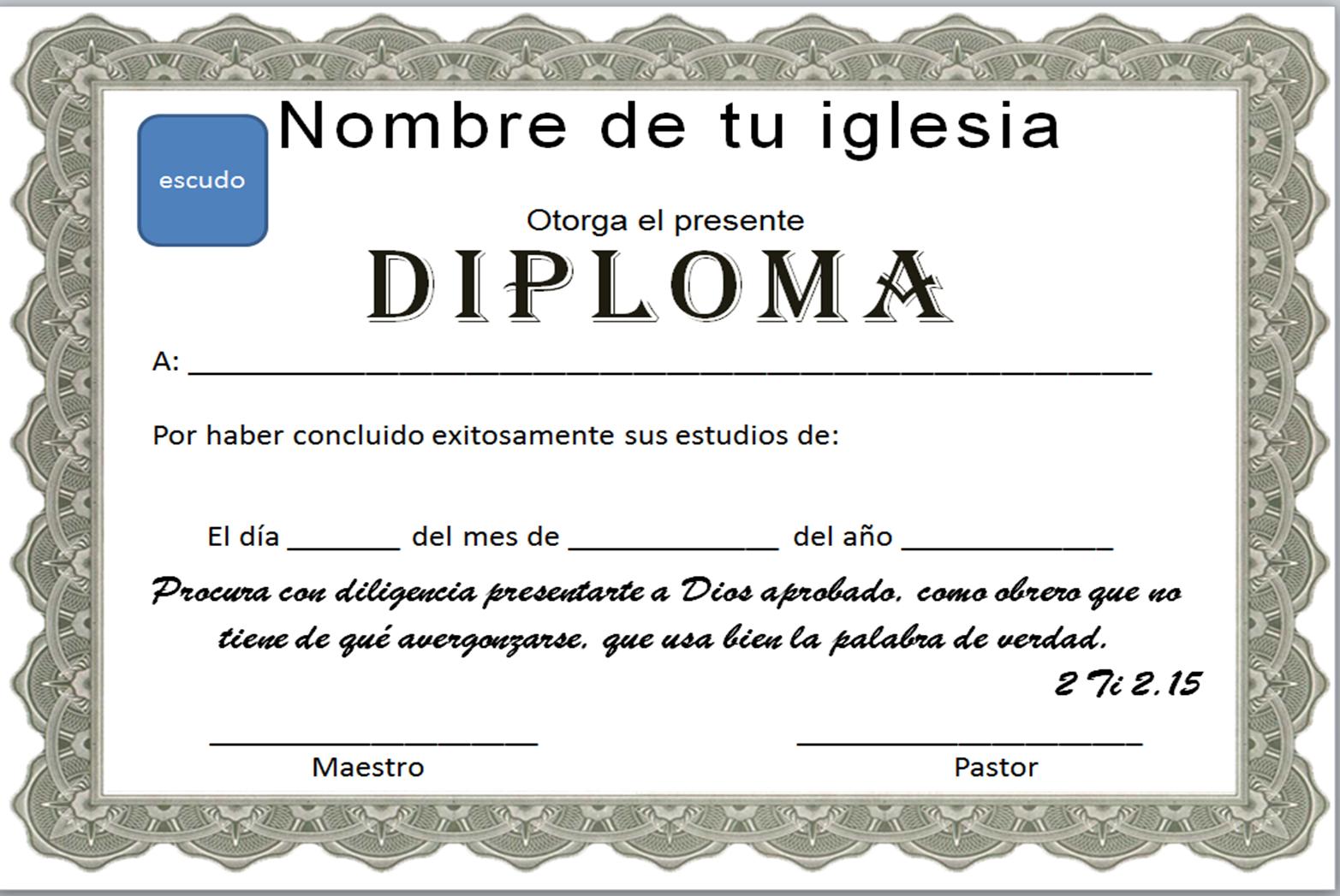 diplomas para editar en word - Ideal.vistalist.co