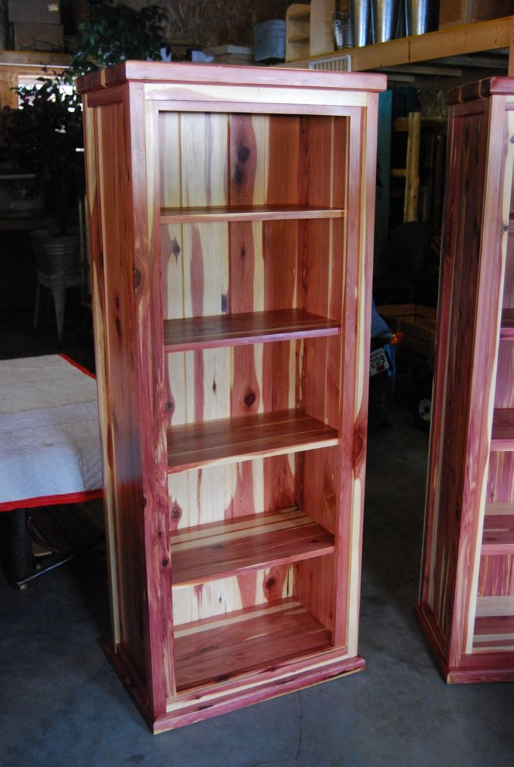 Custom Amish Made Red Cedar Book Shelf From Cabin Creations In Phillips Wi Cedar Furniture Wood Projects Cedar Table
