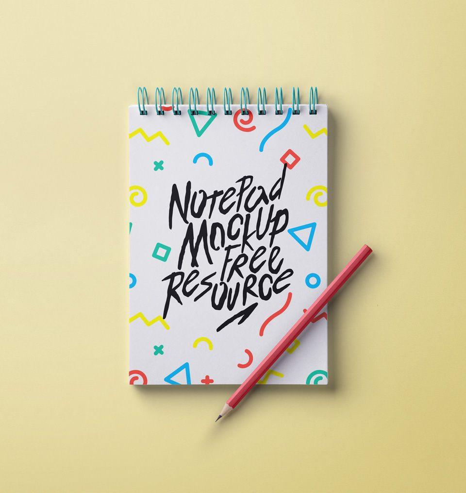Mockup bloc de notas anillado psd v4   Mockups   Pinterest   Nota ...