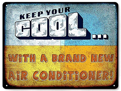 Air Conditioner funny Metal Sign / heating and air office vintage ...
