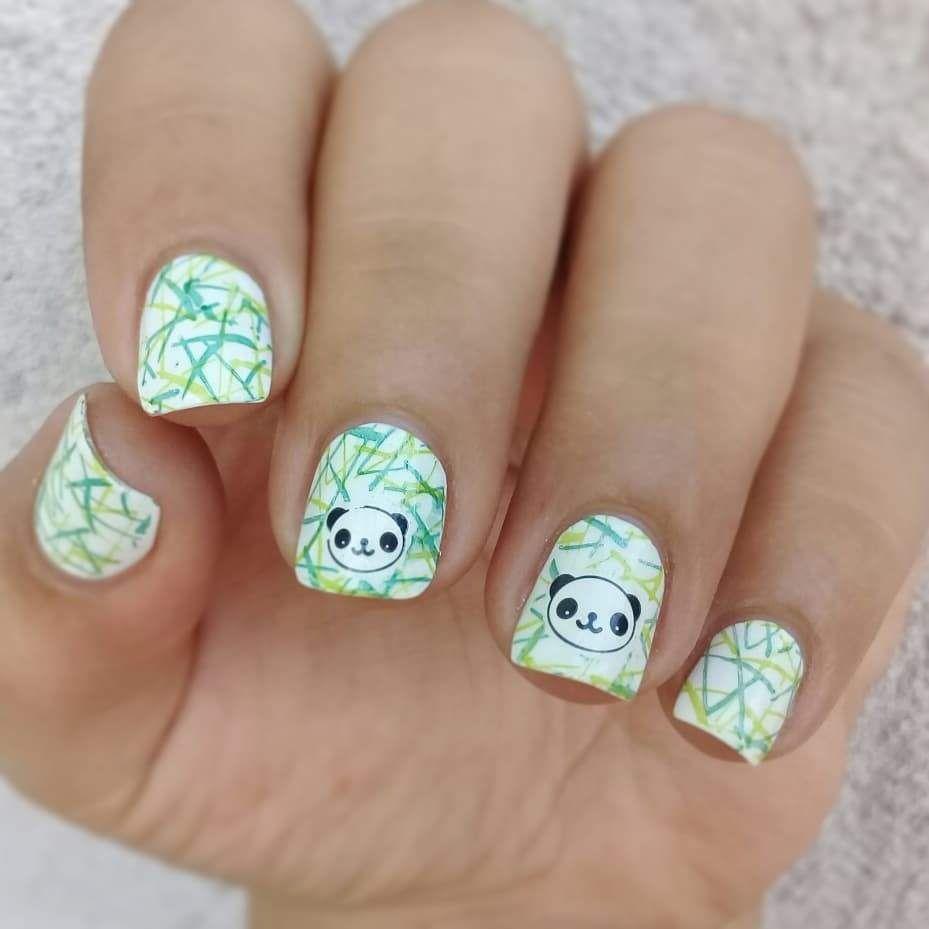 Cartoon Unicorn Floral Lace Butterfly Elegant Swan Manicure Nail Art ...