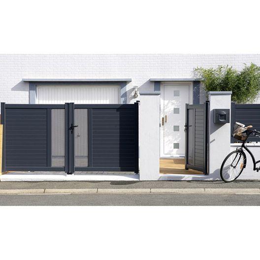 el ment de pilier enduire en b ton coloris gris 20x36x36 cm portail cloture en 2019. Black Bedroom Furniture Sets. Home Design Ideas