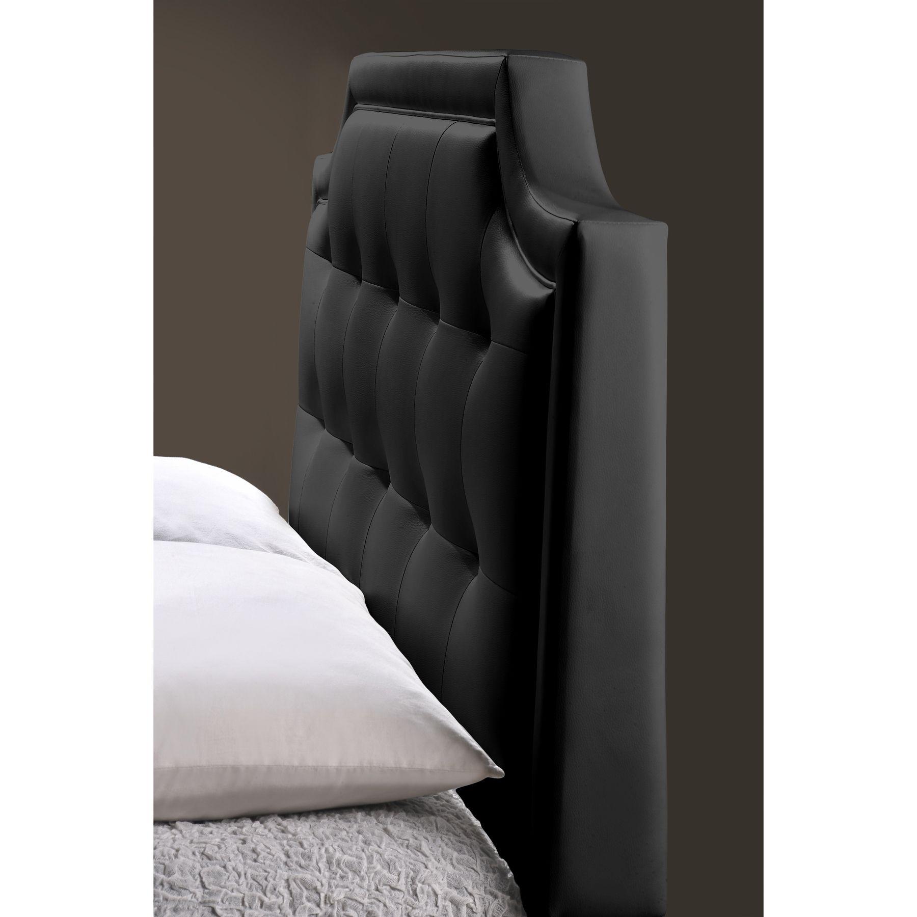 Best Baxton Studio Carlotta Modern Black Faux Leather Platform 400 x 300