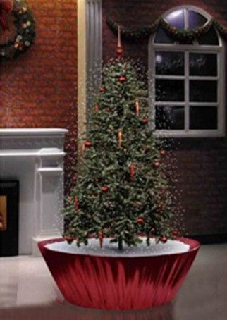 45\u0027 Pre-Lit Musical Snowing Artificial Christmas Tree - Red LED
