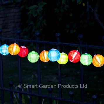 10 Chinese Lantern String Lights by Smart Garden Products