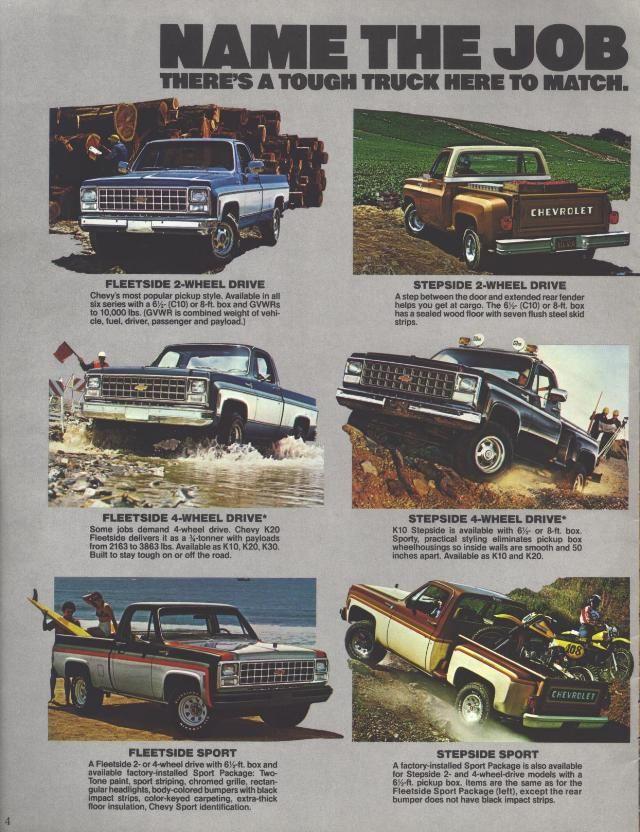 1980 Chevrolet Pickups 04 Chevrolet Pickup Chevrolet Chevy Pickups