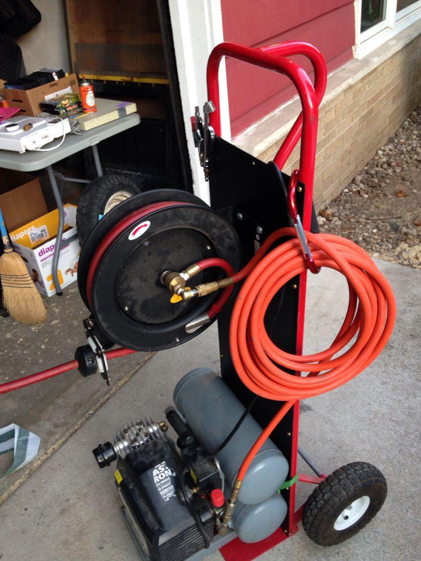 Diy air compressor cart Diy electrical, Garage interior
