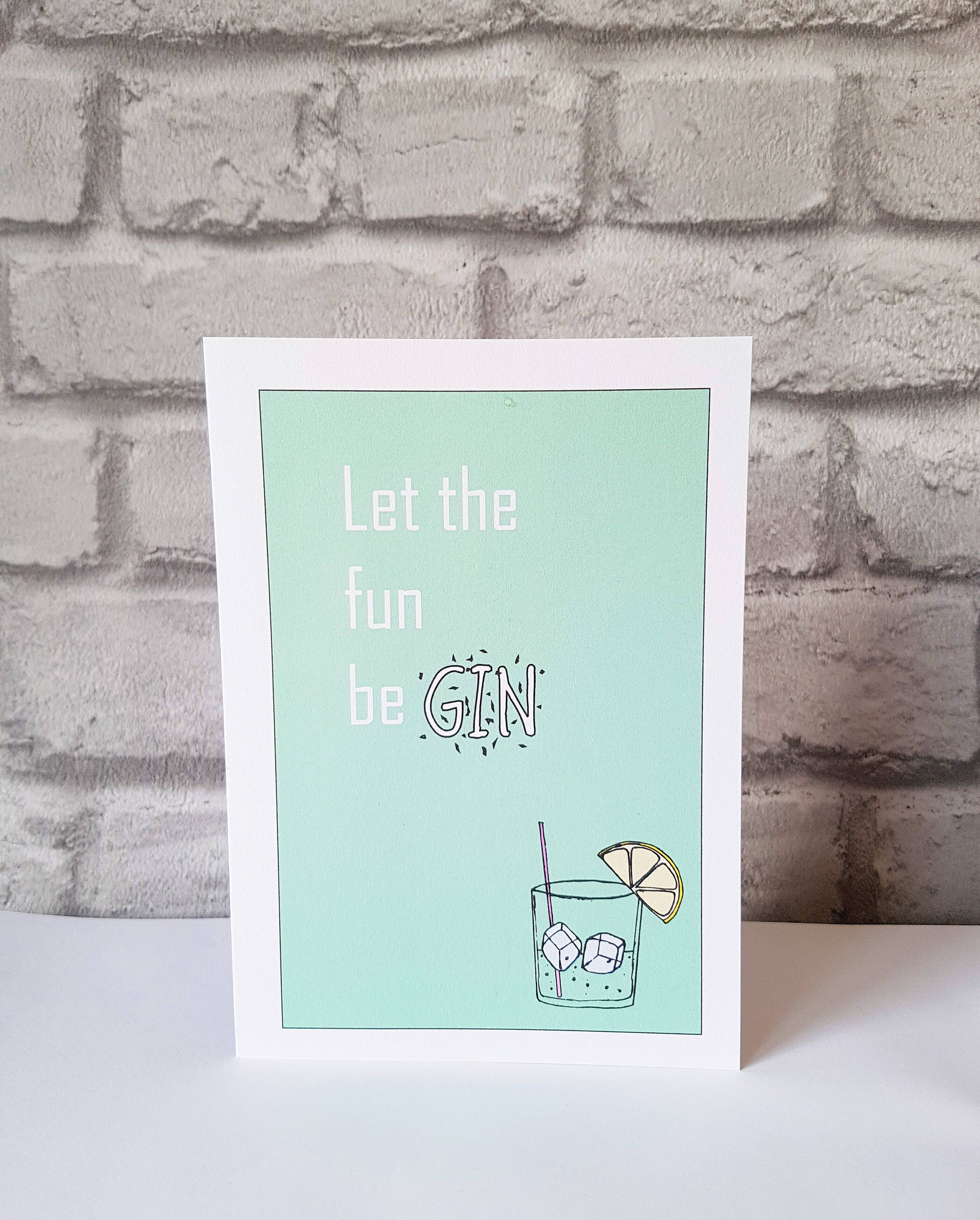 Gin Card Gin Lover Funny Birthday Card Funny Gin Drinking Card Gin Drinker Gin Birthday Card For Friend Gin Birthday Cards Funny Birthday Cards Cards