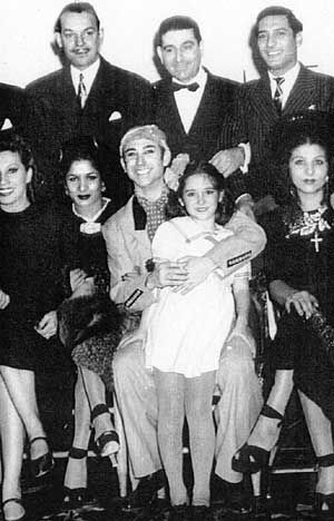 Antonio Triana and Young Luisa Triana with Traveling Dancers
