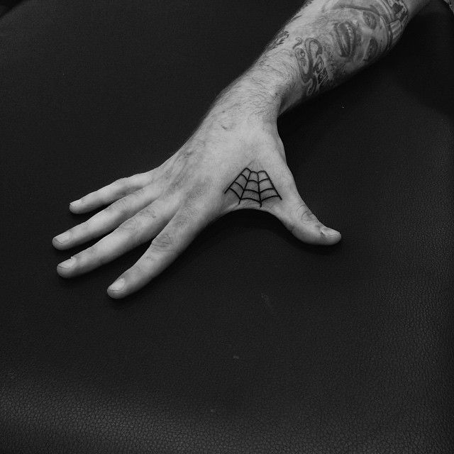 Paolo Bosson On Instagram Spider Web For My Man Kid Nowe Tattoo Classic Spider Web Black Lined Blackworkerssu Web Tattoo Spider Web Tattoo Marvel Tattoos