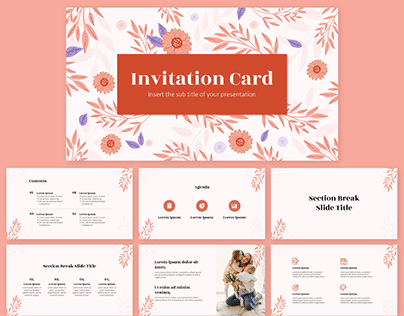 Check Out New Work On My Behance Profile Invitation Free Powerpoint Template Google Slides Theme Http Google Slides Themes Powerpoint Templates Powerpoint
